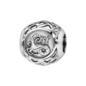 Charms Thabora en argent rhodié boule zodiaque capricorne - Vue 1