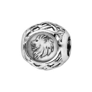 Charms Thabora en argent rhodié boule zodiaque lion - Vue 1