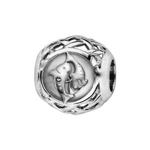 Charms Thabora en argent rhodié boule zodiaque poissons - Vue 1