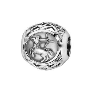 Charms Thabora en argent rhodié boule zodiaque sagittaire - Vue 1