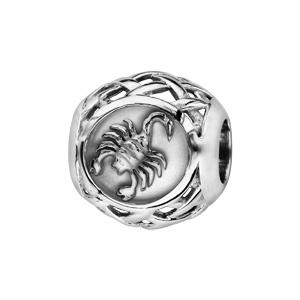 Charms Thabora en argent rhodié boule zodiaque scorpion - Vue 1