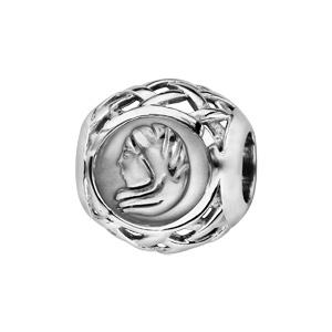 Charms Thabora en argent rhodié boule zodiaque vierge - Vue 1