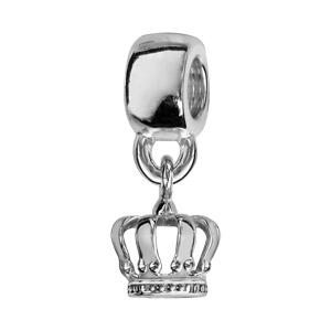 Charms Thabora en argent rhodié couronne ajourée suspendue - Vue 1