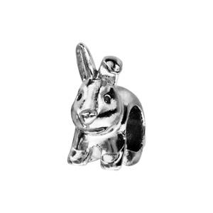 Charms Thabora en argent rhodié lapin - Vue 1