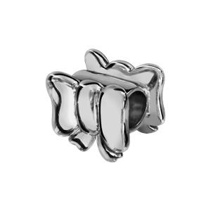 Charms Thabora en argent rhodié noeud féminin lisse - Vue 1