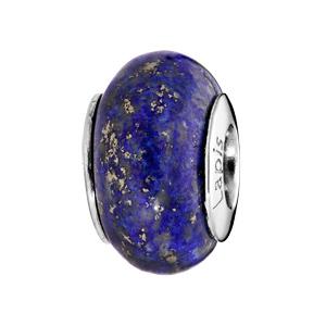Charms Thabora en argent rhodié pierre naturelle rendu Lapis Lazuli - Vue 1