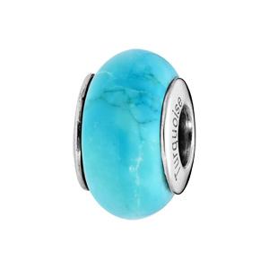Charms Thabora en argent rhodié pierre naturelle rendu turquoise - Vue 1