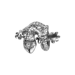 Charms Thabora en argent rhodié salamandre enroulée - Vue 1