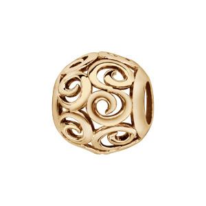 Charms Thabora en plaqué or boule ajourée en spirales - Vue 1