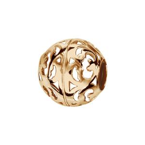 Charms Thabora en plaqué or boule ajourée en volutes - Vue 1