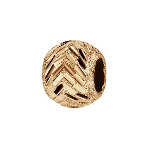 Charms Thabora en plaqué or boule diamantée chevrons 10mm X 5mm