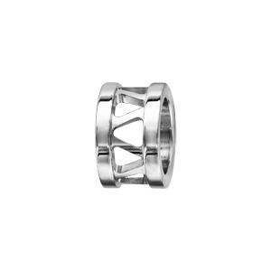 Charms Thabora grand modèle pour homme en acier anneau ajouré en triangles - Vue 1