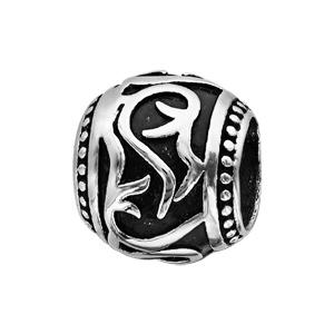 Charms Thabora grand modèle pour homme en acier boule motif tribal patinée - Vue 1