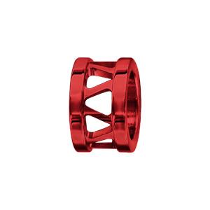 Charms Thabora grand modèle pour homme en acier et aluminium anodisé rouge brillant anneau ajouré - Vue 1
