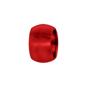 Charms Thabora grand modèle pour homme en acier et aluminium anodisé rouge mat anneau bombé lisse - Vue 1