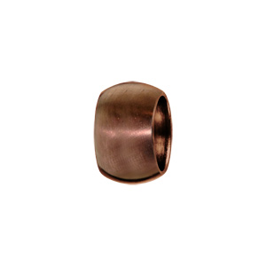 Charms Thabora grand modèle pour homme en acier et PVD marron anneau bombé lisse satiné - Vue 1