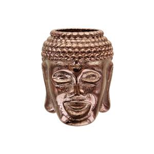 Charms Thabora grand modèle pour homme en acier et PVD marron Bouddha - Vue 1