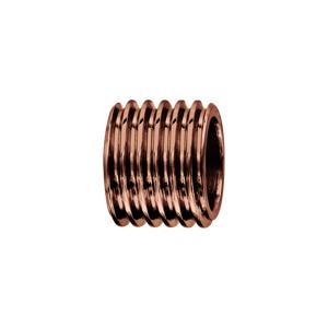 Charms Thabora grand modèle pour homme en acier et PVD marron forme tube avec motif pas de vis - Vue 1