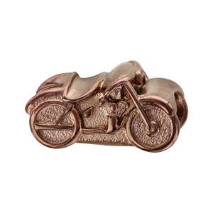 Charms Thabora grand modèle pour homme en acier et PVD marron moto - Vue 1