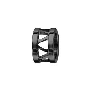 Charms Thabora grand modèle pour homme en acier et PVD noir anneau ajouré en triangles - Vue 1