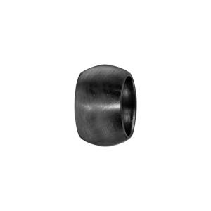 Charms Thabora grand modèle pour homme en acier et PVD noir anneau bombé lisse satiné - Vue 1