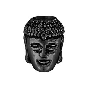 Charms Thabora grand modèle pour homme en acier et PVD noir Bouddha - Vue 1