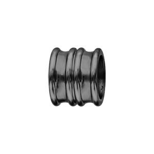 Charms Thabora grand modèle pour homme en acier et PVD noir forme double anneaux évasés - Vue 1