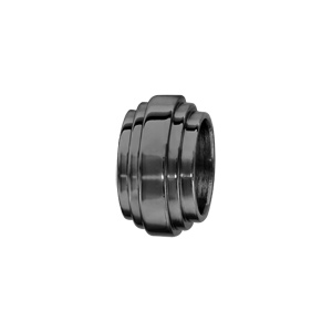 Charms Thabora grand modèle pour homme en acier et PVD noir 3 rubans superposés - Vue 1