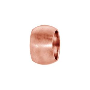 Charms Thabora grand modèle pour homme en acier et PVD rose anneau bombé lisse - Vue 1