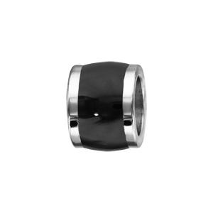 Charms Thabora grand modèle pour homme en acier forme tonneau court noir - Vue 1