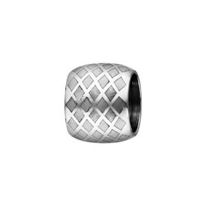 Charms Thabora grand modèle pour homme en acier forme tube avec quadrillage - Vue 1