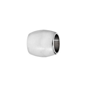 Charms Thabora médium en acier forme tonneau blanc - Vue 1
