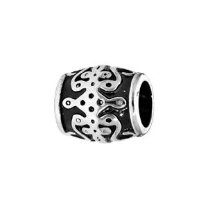 Charms Thabora médium en acier tonneau noire avec motifs arabesques - Vue 1