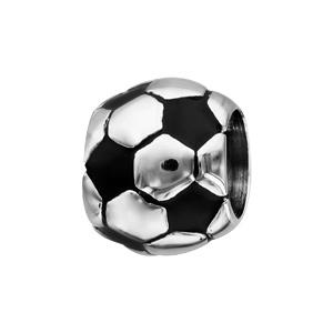 Charms Thabora pour homme en acier ballon de foot patiné - Vue 1