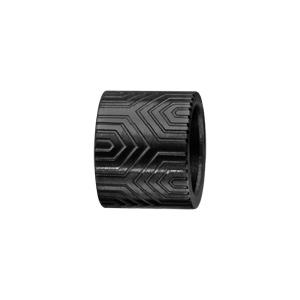 Charms Thabora pour homme en acier et PVD noir forme tube avec motif aztèque - Vue 1
