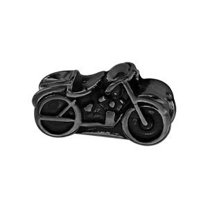 Charms Thabora pour homme en acier et PVD noir moto - Vue 1