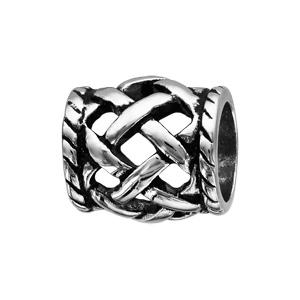 Charms Thabora pour homme en acier tube tressé relief - Vue 1