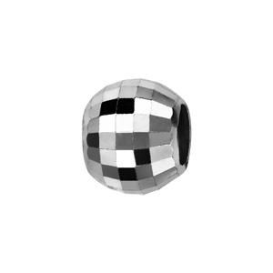 Charms Thabora séparateur en argent rhodié boule à facettes carrées - Vue 1