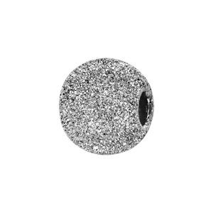 Charms Thabora séparateur en argent rhodié boule granitée