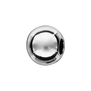 Charms Thabora séparateur en argent rhodié boule lisse - Vue 1
