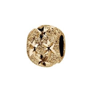 Charms Thabora séparateur en plaqué or boule granitée et diamantée en étoiles - Vue 1