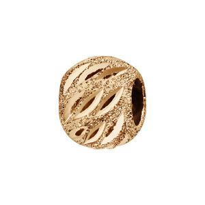 Charms Thabora séparateur plaqué or boule granitée, ciselée et ajourée - Vue 1