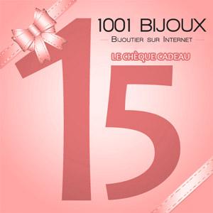 Chèque Cadeau 1001 Bijoux - 15 € - Vue 1