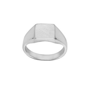 Chevalière en argent plateau carré 95mm X 95mm - Vue 1