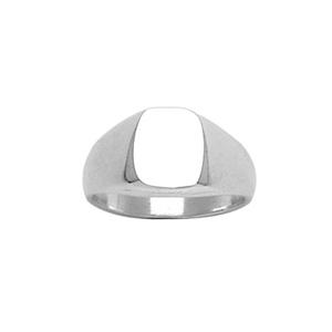Chevalière en argent plateau ovale 10mm X 9mm - Vue 1