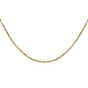 Collier argent et dorure jaune maille margherita 40+4cm