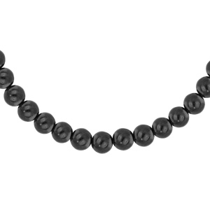Collier en acier avec perles Hématite véritable 42+5cm - Vue 1