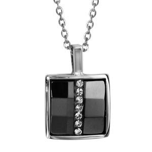 collier en argent cha ne avec pendentif plaque en forme de. Black Bedroom Furniture Sets. Home Design Ideas