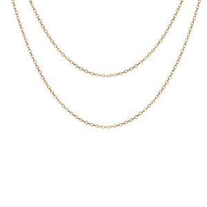 Collier en argent et dorure jaune double chaînes 40 et 45cm - Vue 1