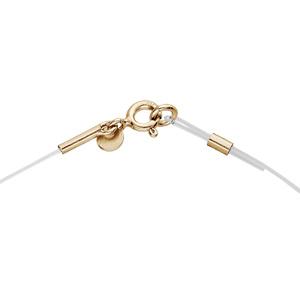 Collier en argent et dorure jaune fil nylon réglable jusqu\'a 50cm - Vue 1